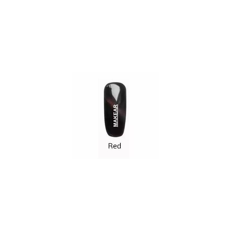 TOP Red Cat Eye Lakier hybrydowy MAKEAR - czerwony MAKEAR