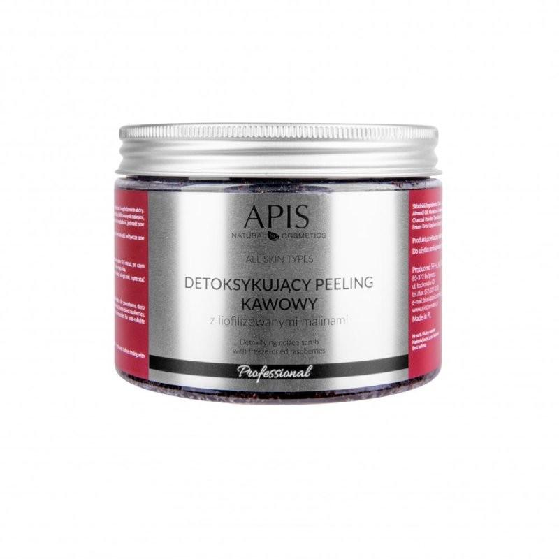 Detoksykujący peeling kawowy z liofilizowanymi malinami - APIS APIS