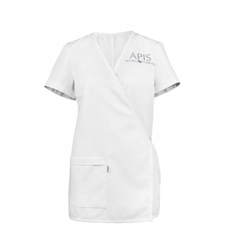 Fartuszek kosmetyczny z logo biały APIS