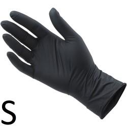 Rękawiczki Nitrylowe Czarne S 100szt