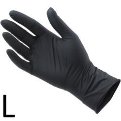 Rękawiczki Nitrylowe Czarne L 100szt