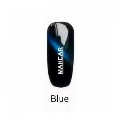 TOP Blue Cat Eye Lakier hybrydowy MAKEAR - niebieski