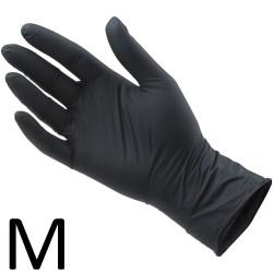 Rękawiczki Nitrylowe Czarne M 100szt