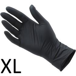 Rękawiczki Nitrylowe Czarne XL 100szt